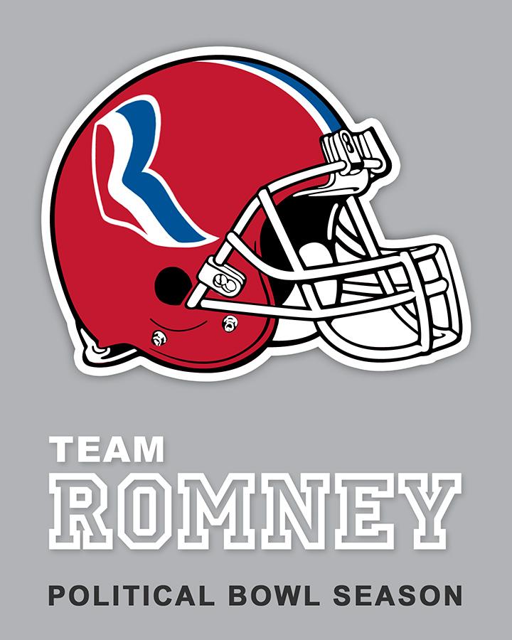 Team Romney sticker design