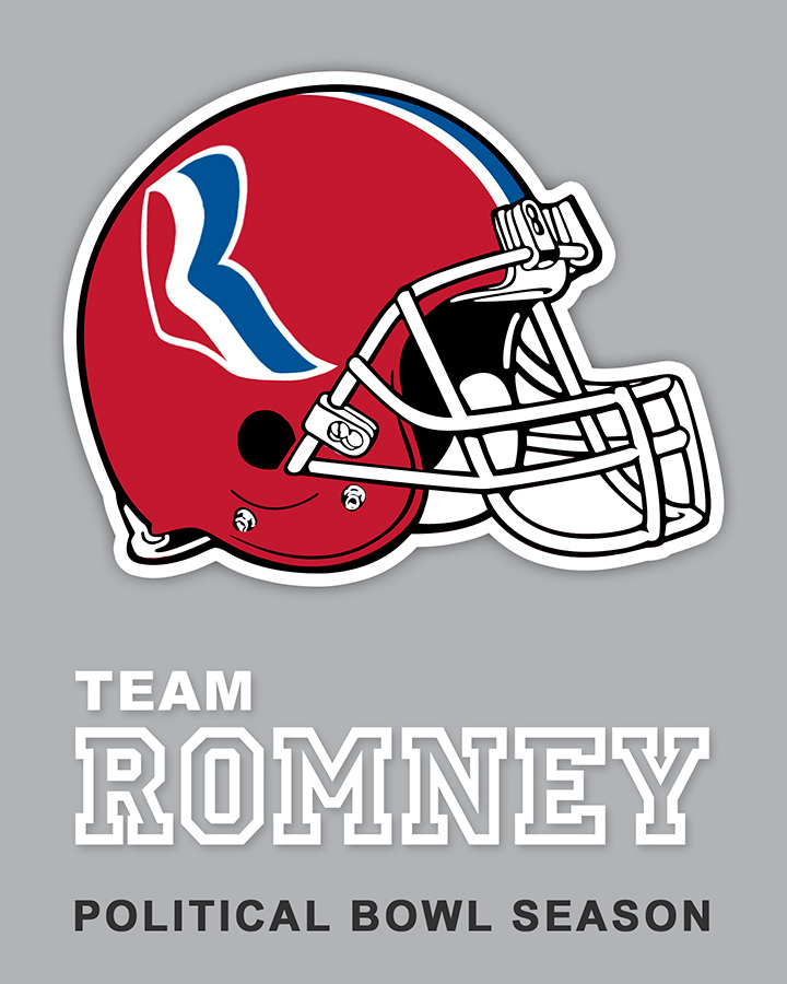 Team Romney sticker design