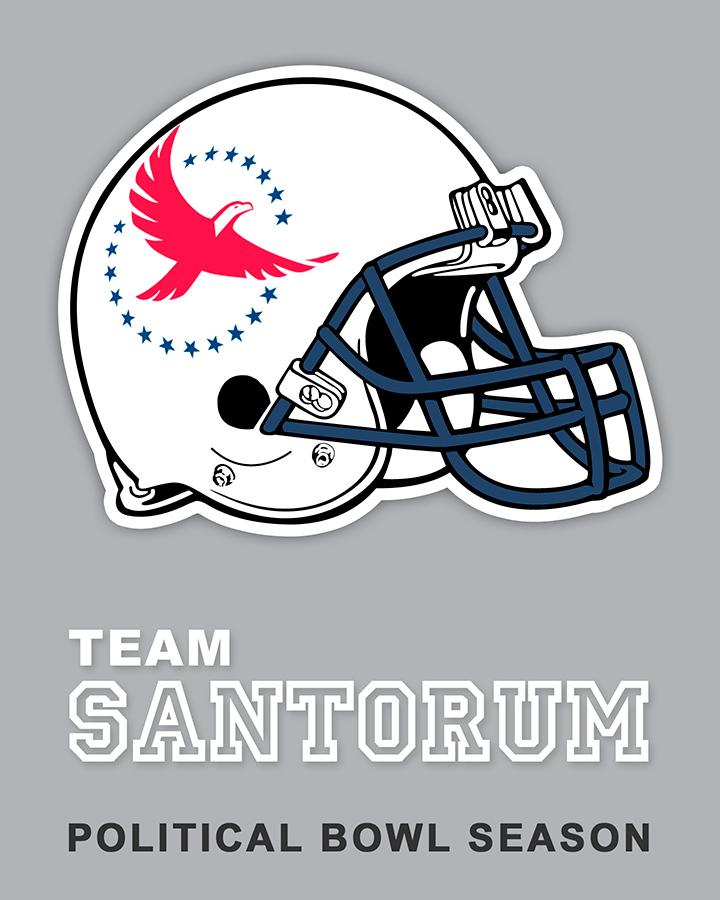 Team Santorum sticker design