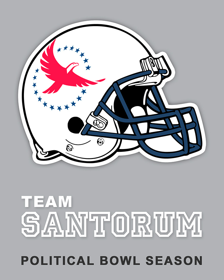 Team Santorum sticker design