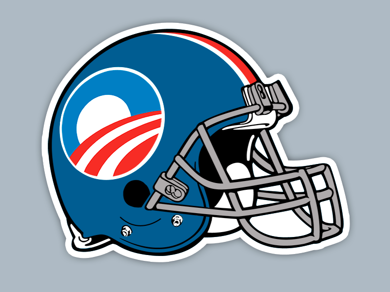 Team Obama helmet design