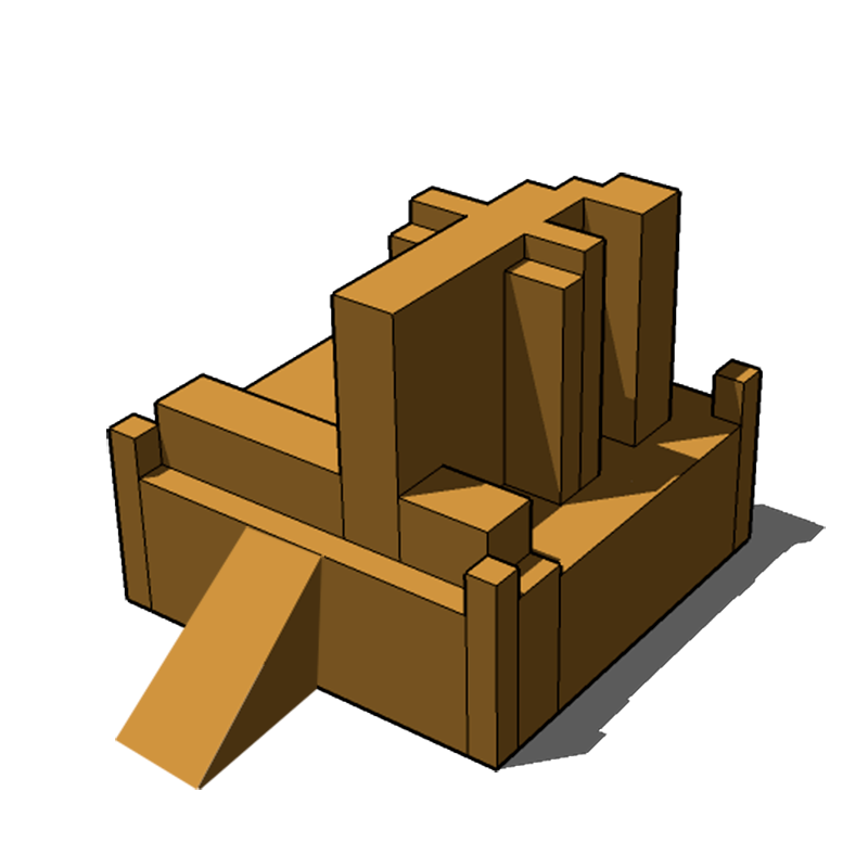 Model for a Temple to Your Online Overlord (SketchUp mockup)