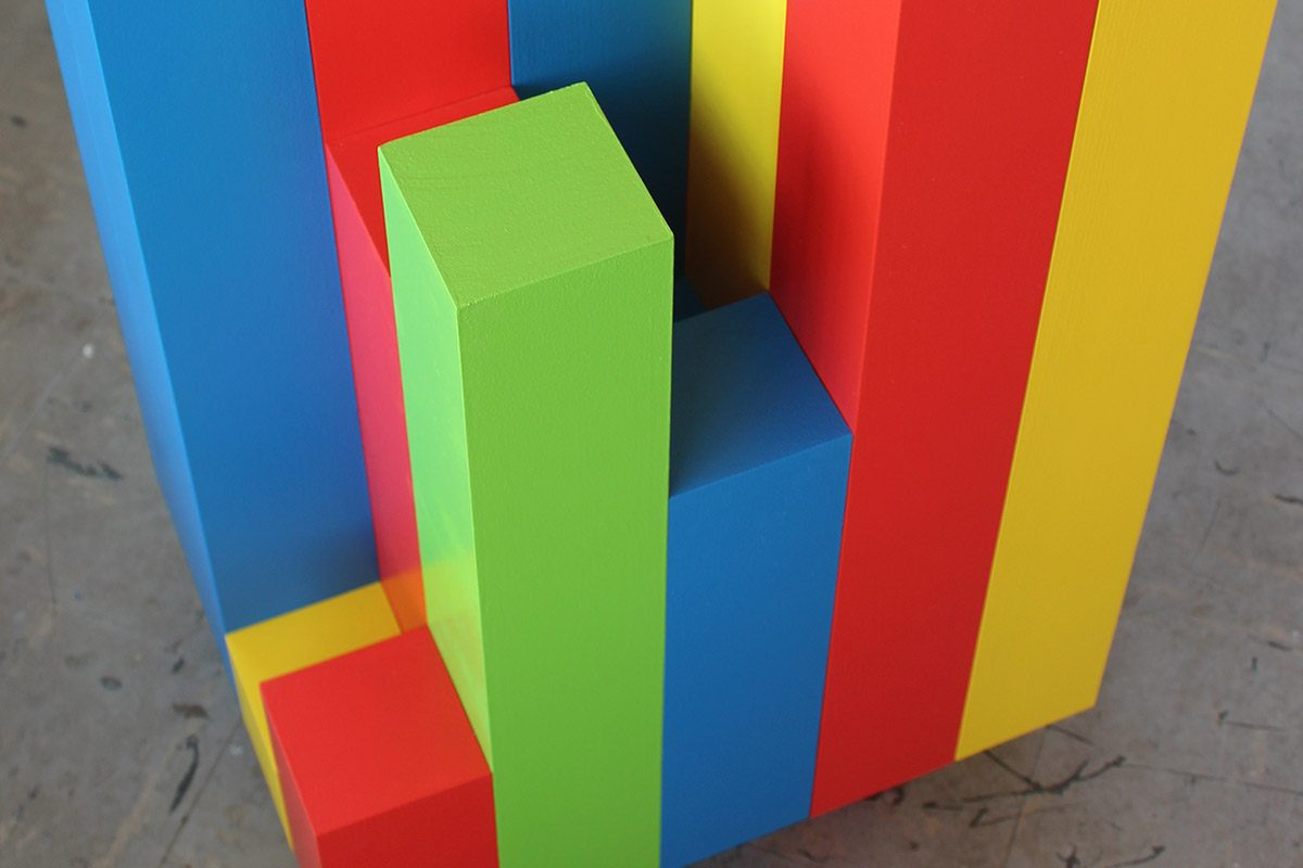 RGB and Sometimes Y, Sudoku Series Sculpture No. 2