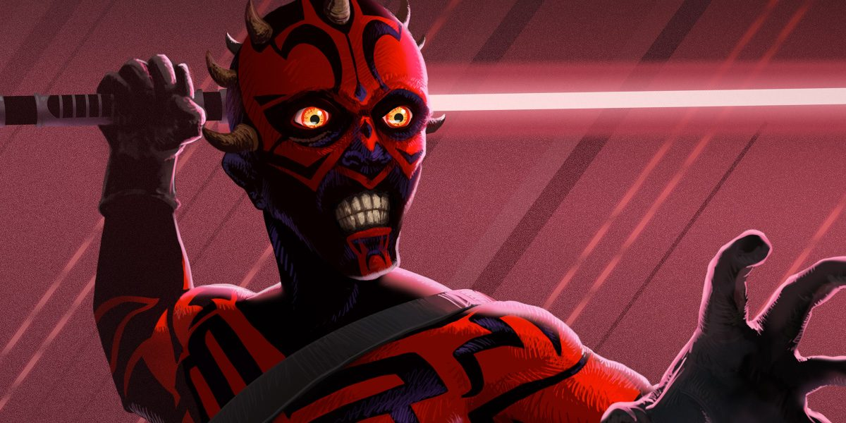 Maul alt-art design for Star Wars Destiny