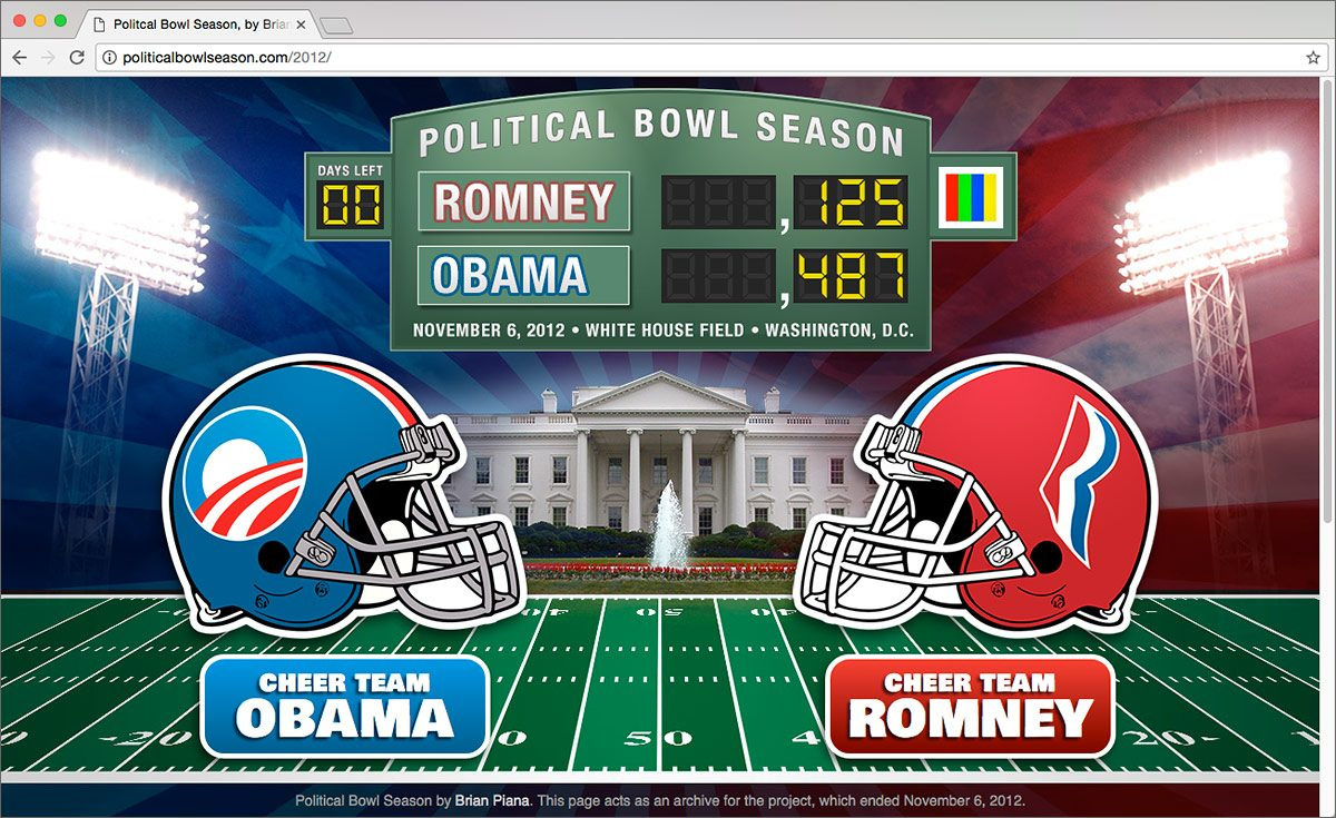 Political Bowl Season website -- 2012 Election