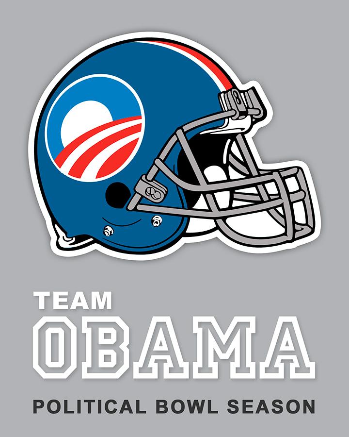 Team Obama sticker design